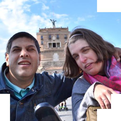 Photo David et Aurélie - Voyage en Italie adapté - Témoignages