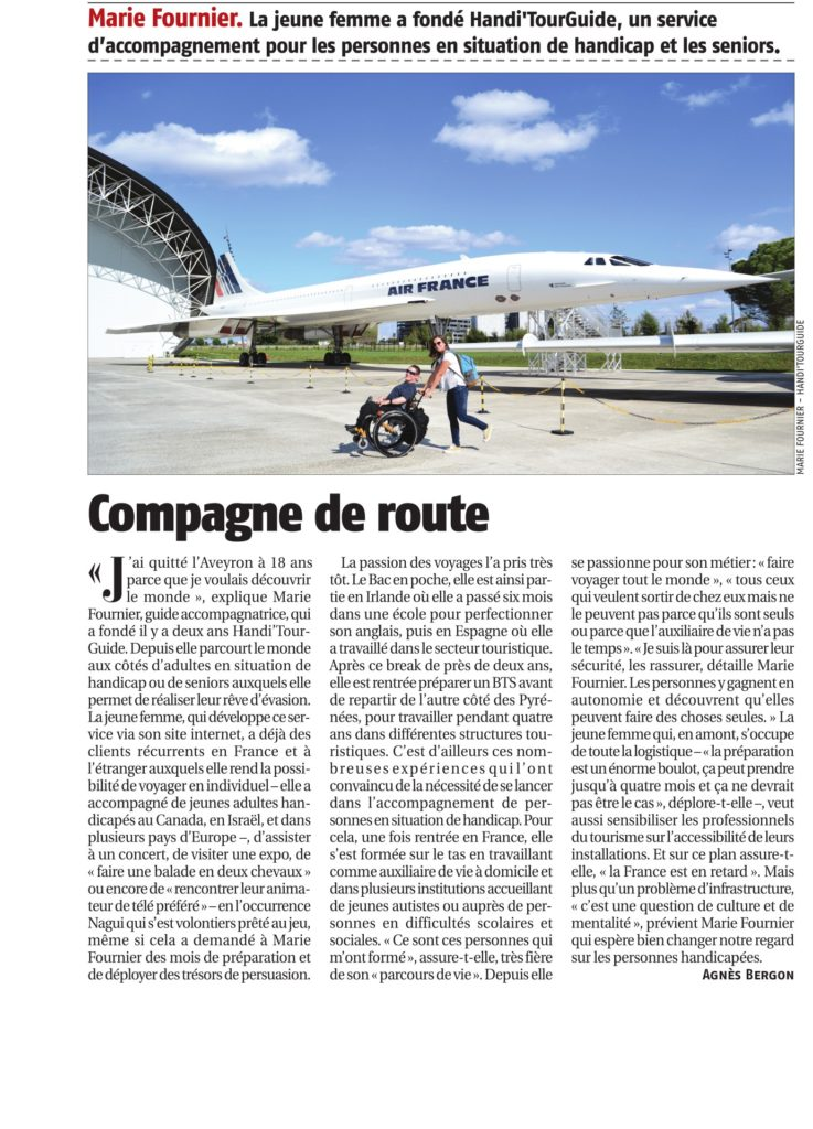 Article de presse Handi'TourGuide