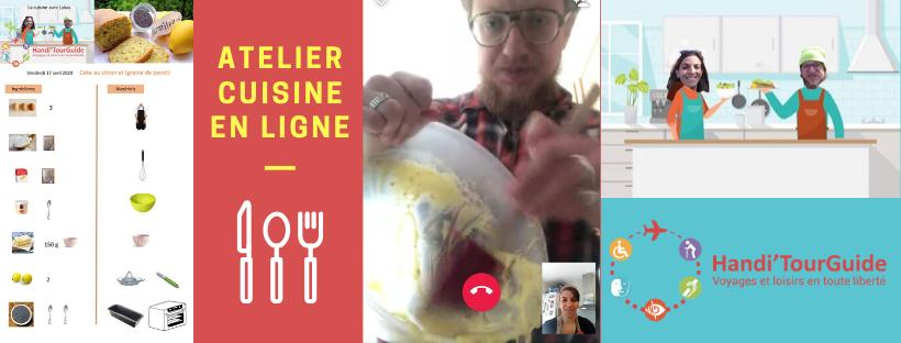 Photo atelier cuisine en ligne - voyage - confinement avec Handi'TourGuide