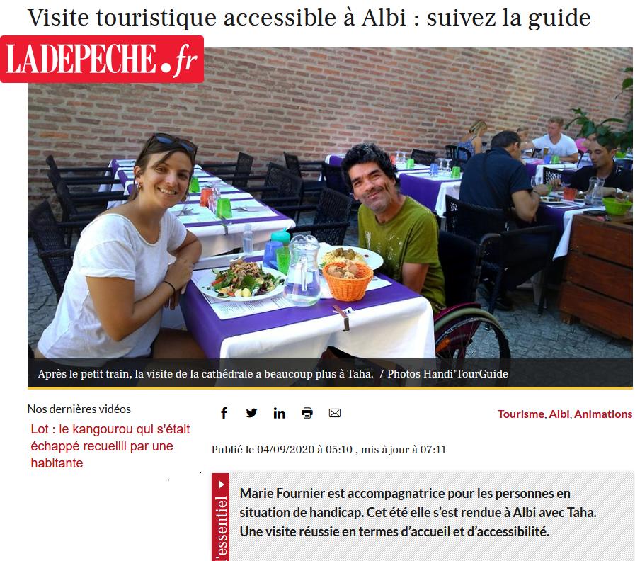 Visite touristique accessible à Albi suivez la guide - Handi'TourGuide